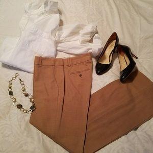 JCrew NWOT Camel Cafe Trouser Size 6